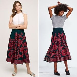 Anthropologie Harare Esva Midi Skirt